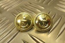 Genuine British Royal Navy Officers Mess Dress Closure Buttons 1 Pair - NEW