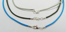 Surfer Choker Necklaces with Silver Lobster Clasp - 2mm Elastic Nylon Cord
