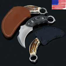 Tactical Pocket Fixed Karambit Claw Blade Knives Outdoor Survival Hunting Knife