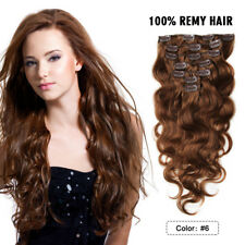 "22"" Clip In Remy Human Hair Extensions 7PCS 100g Body Wave Real Human Hair Weft"