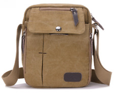New Vintage Shoulder Bag Messenger Bag Canvas Leather Satchel School Military