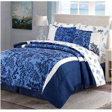 Bed In A Bag Comforter Set Complete Bedding Sheets Twin Full Queen King Blue