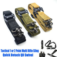 """Tactical QD Swivel Sling 1 /2 Point Multi Mission 1.25"""" Rifle Sling Quick Detach"""