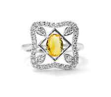 Citrine Natural Gemstone with 925 Sterling Silver Ring Oval Cut Handcrafted