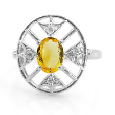 925 Sterling Silver Ring with Oval Cut Citrine Natural Gemstone Handmade eBay