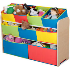 Toy Organizer With 9 Removable Multicolored Storage Bins New