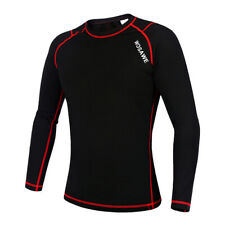 Cycling Long Sleeve Jersey Outdoor Sports Underwear Clothing Black Red