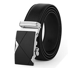 Mens Designer Leather Belt Automatic Buckle Casual Genuine Fashion For Business