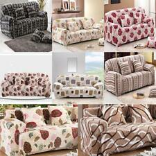 Floral Style Spandex Stretch Love Seat Slipcover for 2 Cushion Couch Sofa