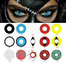 Eye Color Contacts Lenses Halloween Cosmetic Cosplay Vampire Colored Lens New