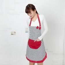 Cute Women Kitchen Restaurant Bib Cooking Aprons With Pocket  &282