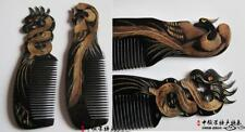 Chinese Loong and Phoenix Natural Horn Comb Hair Care Handmade Comb Gift