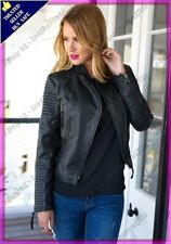 Womens Genuine Lambskin Motorcycle Real Leather Jacket Slim fit Biker Jacket #65