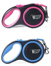 WolverWear Retractable Dog Leash. 16' for dogs up to 55 lbs.  Lifetime Guarantee