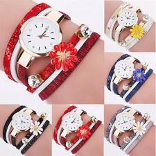 Fashion Women Girl Watch Bracelet Faux Leather Dress Analog Quartz Wrist Watches