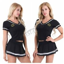 Sexy Women Cheerleader Lingerie Costume Cosplay Outfit Fancy Dress G-string