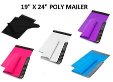 19x24 Poly Mailers Shipping Envelopes Self Sealing Plastic Mailing Bags Color