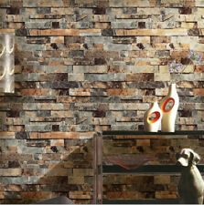 3D Stone Wall Paper Vinyl Nature Emboss Roll Brick Wall Wallpaper Tv Background