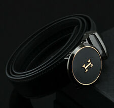 Fashion Casual Genuine Leather Mens Belt Automatic Buckle Waistband Strap New