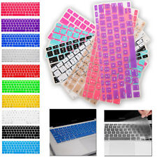 """Colored Soft Keyboard Case Cover Protector Apple Macbook Air Pro 17"""" 13.3"""" 15.4"""""""