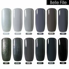 BELLE FILLE Nail Art Gel Polish Varnish Lacquer Soak-off UV Manicure Grey Gray