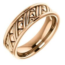 14k Rose Gold Woven Style Wedding Band Ring