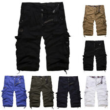 Mens Shorts Casual Military Army Cargo Pants Work Short Trousers Baggy Solid
