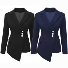 Women's Casual Suits Blazer Lapel Bottum OL Long Sleeve Jacket Coat Outwear Tops
