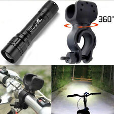 20000LM 3 Mode 18650 Flashlight T6 LED Zoomable + Bicycle Torch Holder Hunting
