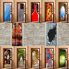 3D Decals -Removable Door Mural Stickers Wall Decor Home Decoration 77x200cm