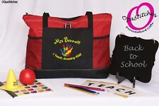 Personalized Autism Teacher Tote school work bag, thank you gift,