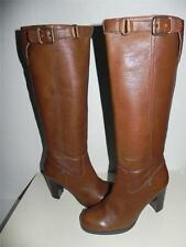 COACH Kaylie Saddle Brown Leather Knee High Buckle Boots 10