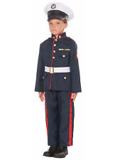Formal Marine Corps Captain Military Officer Blue Dress Uniform Boys Costume