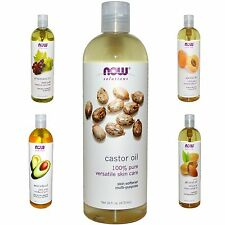 Now Foods Solutions Castor Oil Essential Oil Pure Organic 100% Cold Pressed 16oz