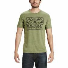 Lucky Brand Mens T-Shirt Tee Olive Green Graphic Heather Crew Neck Short Sleeve