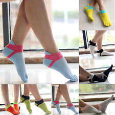 Women Sport New Style Comfortable Ankle Protect Foot Five Fingers Toe Socks BA
