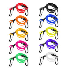 3ft Elastic Kayak Canoe Tow Leash Tow Line Secure Lanyard with 2 Carabiners