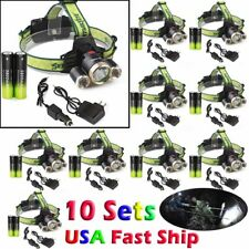 50000LUMENS T6 LED Headlamp Headlight Head Torch Lamp 18650 Charger Flashlight !