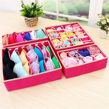 4pcs/Set Divider Container Box Bra Organizer Foldable Non-woven Storage Z
