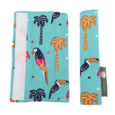 Pushchair Strap Covers Handmade 4 Bugaboo Quinny iCandy buggy Pram in Parrots