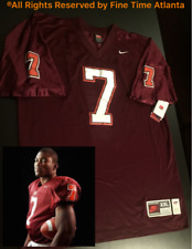 HTF! NEW Michael Vick Authentic Nike Virginia Tech Burgundy/Home Jersey Falcons