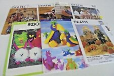 McCall's Simplicity Assorted Stuffed Animal Toy Sewing Patterns You Choose UNCUT