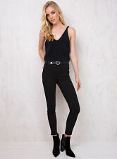New Women's Abrand Black Magic High Skinny Ankle Basher Jeans