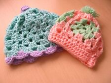 NEW BABY HATS HAND CROCHET DIFFERENT SIZES