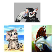 DIY 5D Animal Diamond Embroidery Painting Cross Stitch Home Decor Art Craft