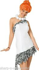 Ladies Deluxe Sexy Wilma Flintstone 1960s TV Fancy Dress Costume Outfit + WIG