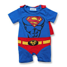 SALE~ Baby Boys Muscle Superman Costume With Cape Party Fancy Dress Up Outfit
