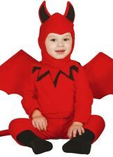 Baby Girls Boys Red Halloween Devil & Wings Fancy Dress Costume Outfit 6-24 mth