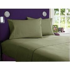 800TC EGYPTIAN COTTON BEDDING COLL. SHEET SET+DUVET COVER+BED SKIRT MOSS