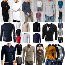 Men's Slim Fit Long Sleeve Slim T-shirts Casual Tee Shirt Tops Pullover Blouse